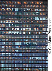 Glass facade - facade of office building