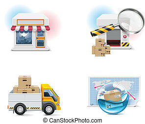 Vector shopping icon. P.1 - Set of the shopping...