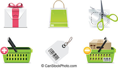 Vector shopping icon. P.3