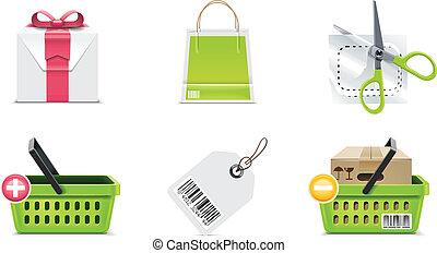 Vector shopping icon. P.3