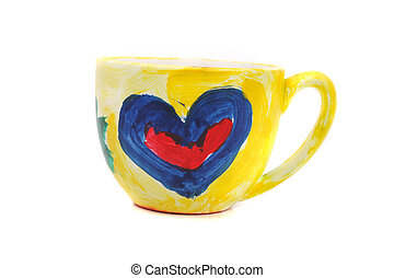 easy love cup isolated on the white background