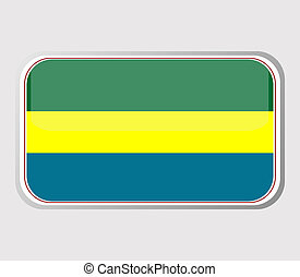 Flag of gabon in the form. vector