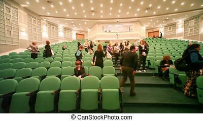 People in auditorium after CPM Collection Premiere - MOSCOW...