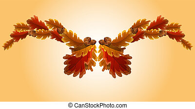 Autumn oak leaf and acorn garland