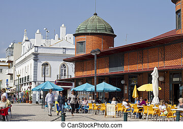 market area - View of the traditional market area of the...