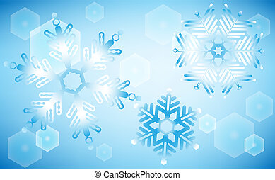 Subtle blue snowflakes on blue background