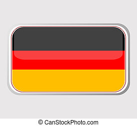 Flag of germany in the form. vector