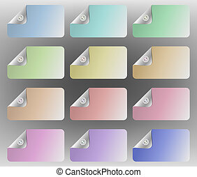 Pastel multi-colored cards with one corner appearing to be...