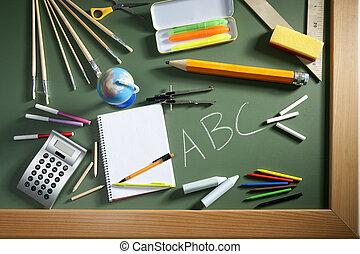 ABC school blackboard green board back to school - back to...