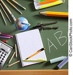 ABC school blackboard green board back to school - back to...