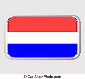Flag of holland in the form. vector