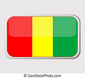 Flag of guinea in the form. vector