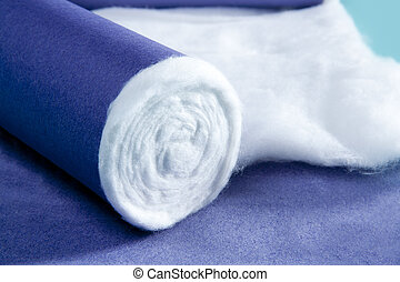 blue rolled medical cotton pharmaceutical background