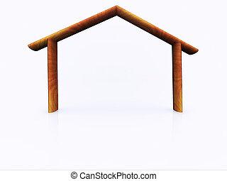 wood house -  a wood house