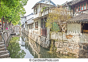 Water town of Suzhou, China - The famous water town of...