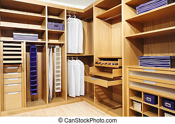 wood closet - classic wood modern closet background
