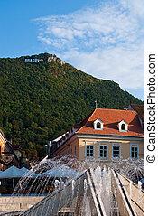 Council square in Brasov, Romania