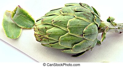 Artichoke on a napkin