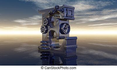 letter e machine
