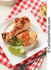Roast chicken drumsticks - Roasted chicken drumsticks with...