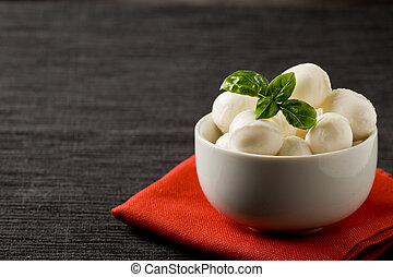 Mozzarella appetizer - photo of delicious small mozzarella...