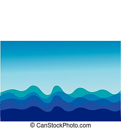 Sea waves - The vector image of sea waves