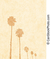 Faded Palms on Paper