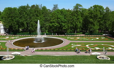 Fountain Bowl at Royal Petrodvorets, Saint Petersburg -...