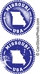 Missouri USA Stamps - A couple of distressed stamps...