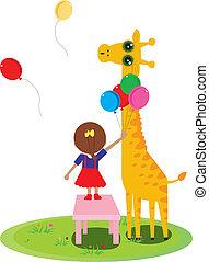 KID AND GIRAFFE