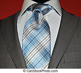 Suit jacket and tie