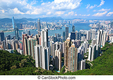 Hong Kong landmark view from the peak