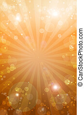 Blast of light - Bright orange tone galaxy background