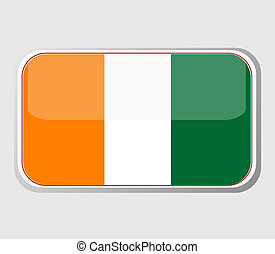 Flag of ivory coast in the form. vector