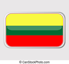 Flag of lithuania in the form. vector