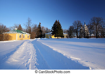 Winter in Russia - Winter in Boldino national park, Russia
