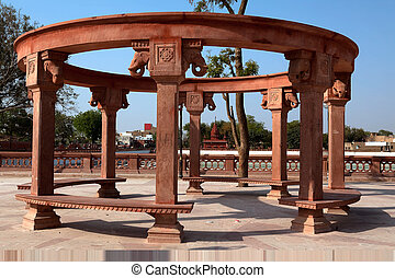 public bench in city of Bikaner rajasthan state in indi