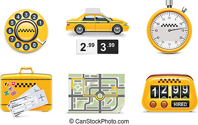Vector taxi service icons. P.1 - Set of the taxi service...