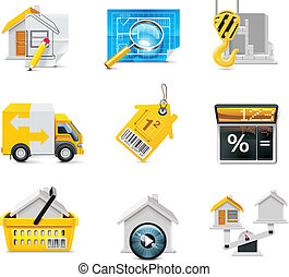 Vector real estate icons P2 - Set of the real estate related...