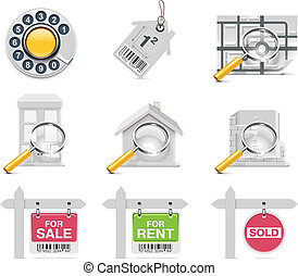 Vector real estate icons. P.3 - Set of the real estate...
