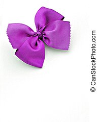 Purple Ribbon isolated on white background