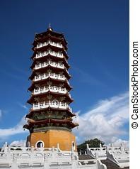 Chinese Pagoda at Sun Moon Lake in Taiwan