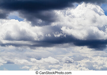 stratocumulus clouds - View of some fluffy stratocumulus...