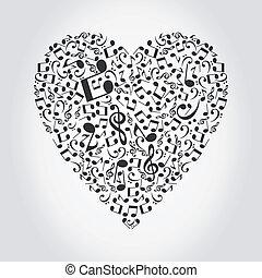Musical heart2