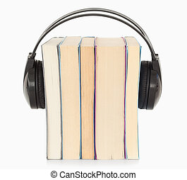 Interpretation a the audiobook concept against a white...