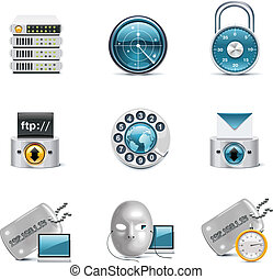 Internet and network icons P3 - Set of the computer...
