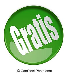 Gratis - 3d Button in green with free icon