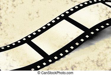 Film strip on grunge background