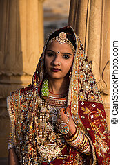 wedding couple in jaisalmer - wedding couple in tradional...