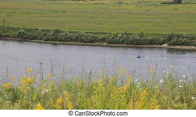 """Riverbank  - """"Oka"""" river, Ryazan area, Russia"""